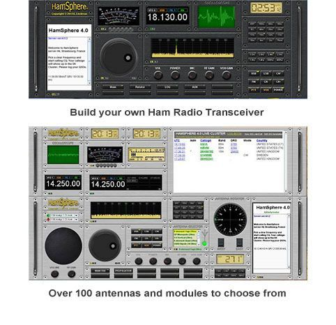 HamSphere is a Virtual Ham Radio transceiver for Windows, Mac, Linux, Android and iPhone