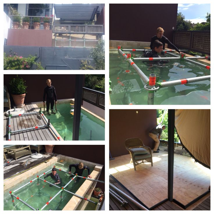 Swimming pool deck with Layher #ccpp #creatingexperience #layherscaffolding #Layher