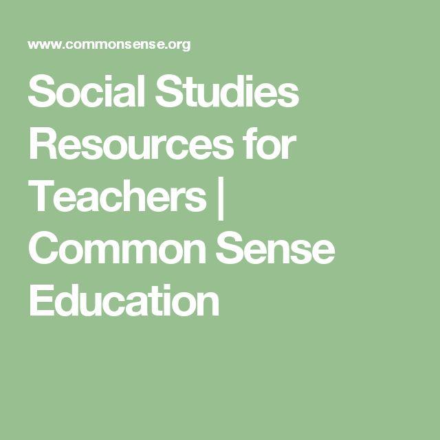 Social Studies Resources for Teachers | Common Sense Education