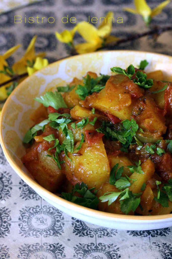 Aloo Bombay ! Pommes de terres à l'indienne. Voyagez en Inde avec cette recette !!  #recette #pommedeterre #Inde