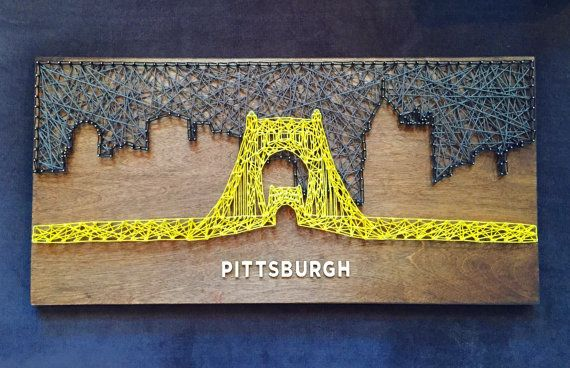 Pittsburgh Skyline String Art  Roberto by CactusCustomDesigns