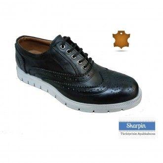 Deri Erkek Ayakkabı Siyah Renk Eva Taban HSE224149 Skarpin Ayakkabı  #erkek #deri #ayakkabı #moda #kombin #stil #skarpin