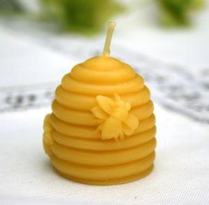 Beehive Mini Organic Handmade 100 Beeswax Candle