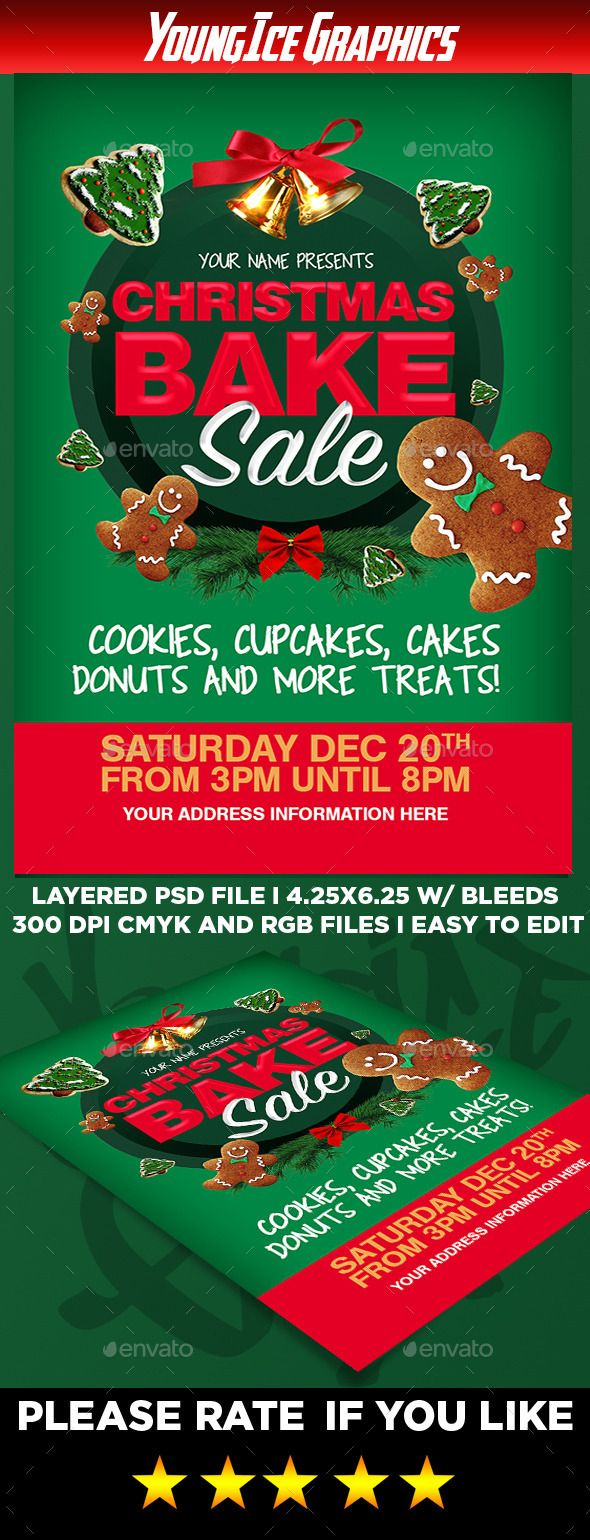 17 best images about bake printables promotion christmas bake flyer template