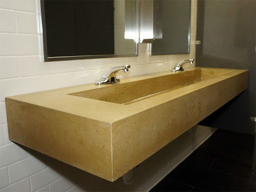 yellow concrete sink - Google Search in 2020 | Bathroom ...