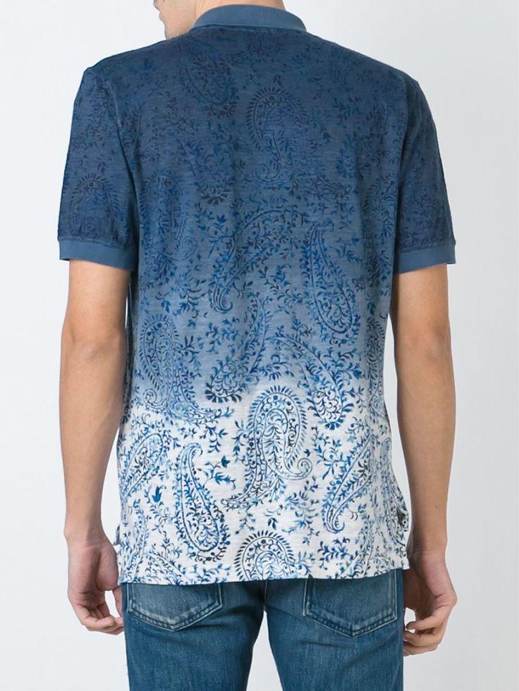 Etro Ombre Printed Polo Shirt - Gore - Farfetch.com