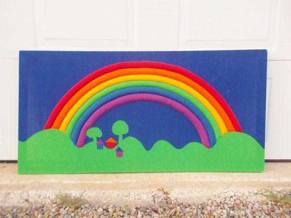 Vintage Mod Tampella Sateensaari Rainbow Wall Hanging par ObjetLuv, $95.00