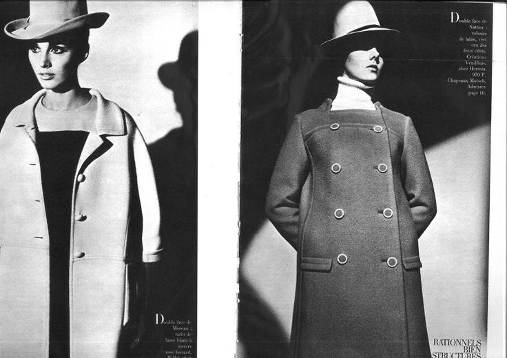 Roman Cieślewicz dla francuskiego Vogue'a luty 1966 found on ciaovogue.com