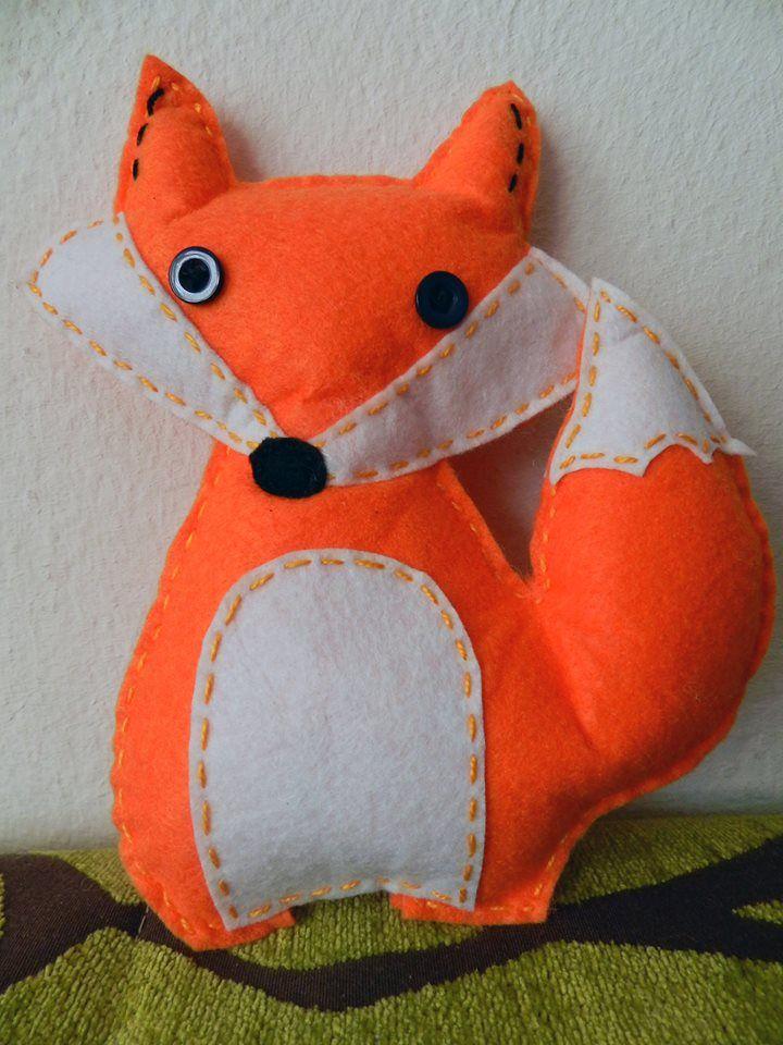 La raposa Muñeco de fieltro Mónica Jiménez