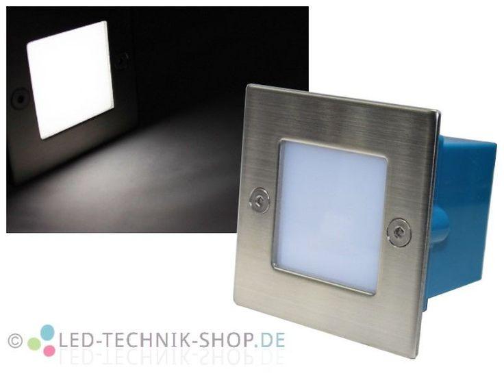 Amazing Details zu Edelstahl LED Einbaustrahler Leuchte eckig wasserdicht IP kaltweiss V