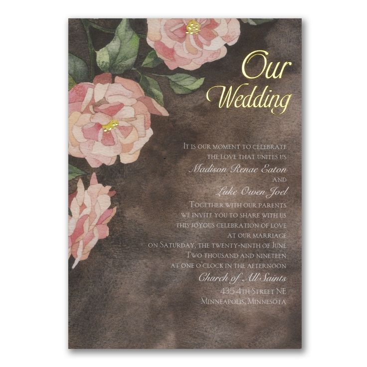 addressing wedding invitations married woman doctor%0A Glamorous Vintage Roses Foil Wedding Invitation