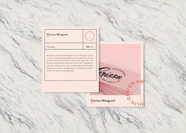 Love this business card design that is reminiscent of a Polaroid print! Still chic and clean!