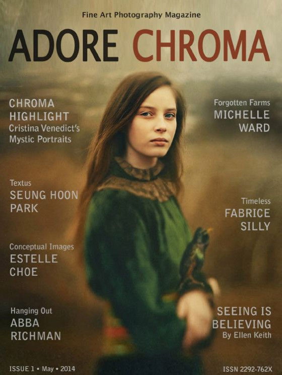 I'm honored to be featured in the Premiere Issue of the Fine Art Photography Magazine Adore Chroma, sister publication to Adore Noir Magazine