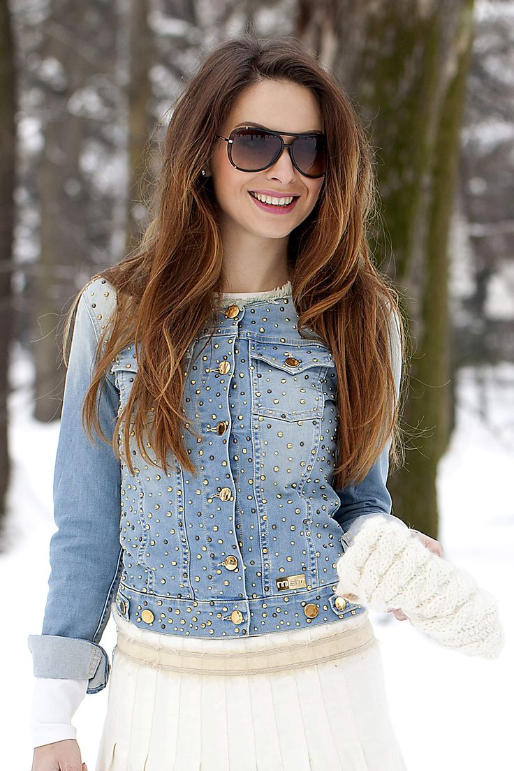 in white winter :) Outfit