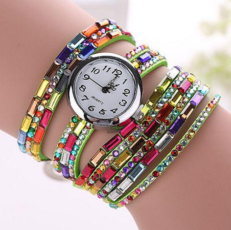 Spread the love of Acmefame CCQ Fashion Luxury Gemstone Leather Wristwatches Casual Women Dress Quartz Watch Reloj Mujer Relogio Feminino Gift 1134