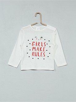 Niña 0-36 meses - Camiseta estampada de manga larga - Kiabi  d05f3397d06