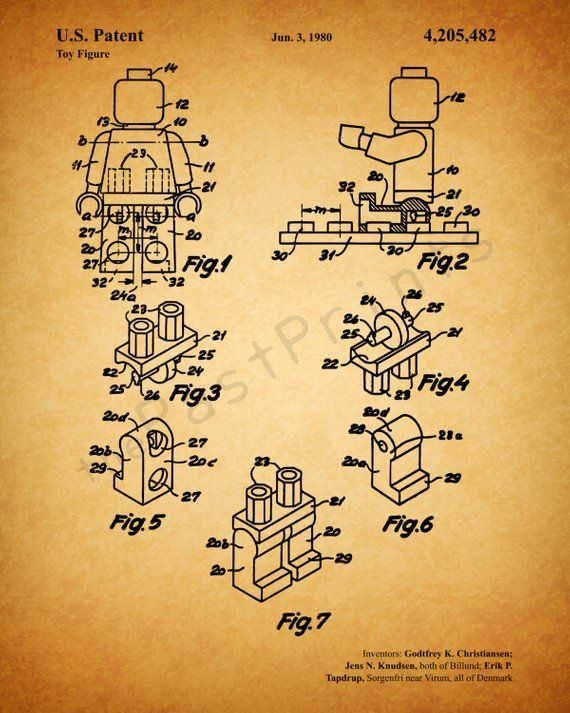 INSTANT DOWNLOAD 5 JPG   Lego Wall Art   Lego Art   Lego Print   Lego Printables   Lego Poster   Patent Print   Patent Art   Kids Gift – other