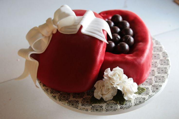 Heart Shaped Chocolate Box Cake