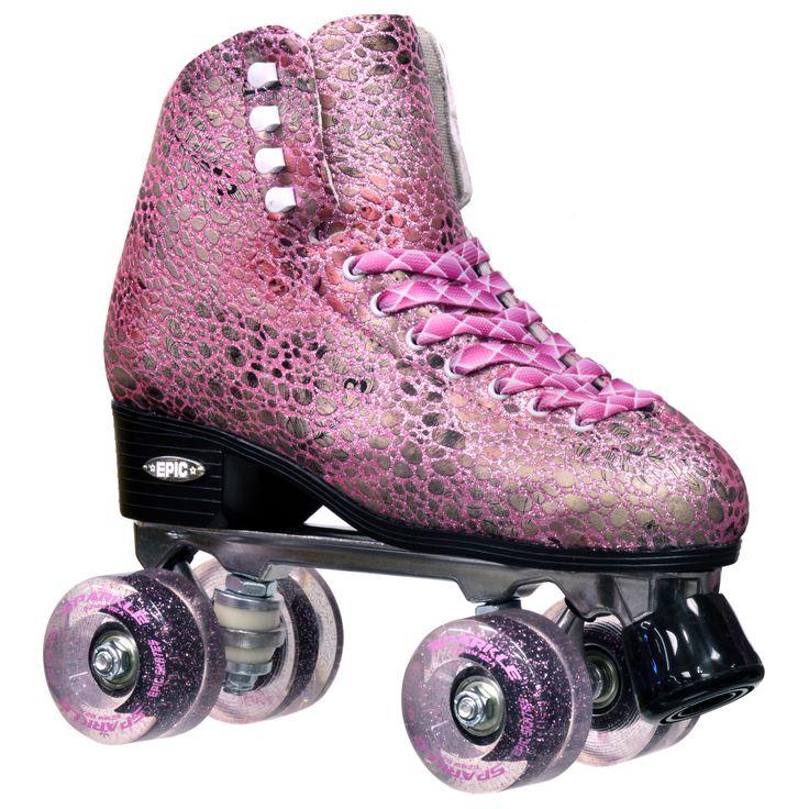 Epic Sparkle Metallic High-Top Quad Roller Skates