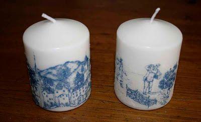 Decoupage candles / Handmade by Taja