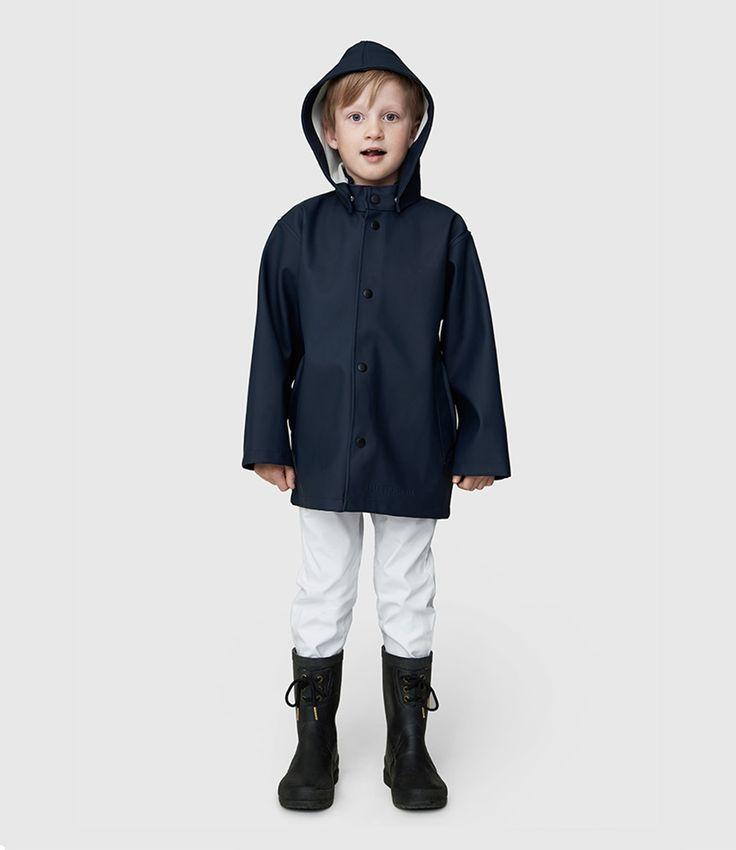 New raincoats for kids! (€ 175,00) #stutterheim #stockholm #mini #kids #raincoat