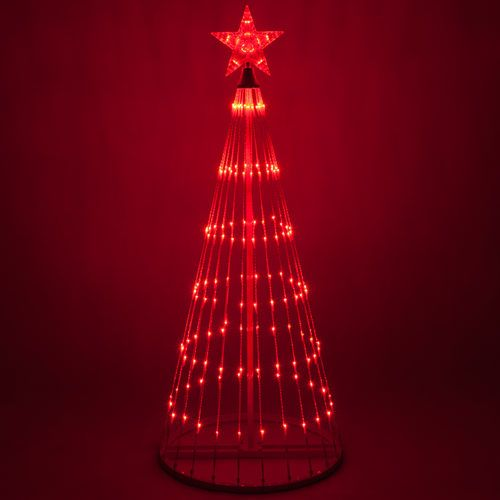 Red LED Animated Outdoor Lightshow Tree $119.99 www.mundyshops.com These LED light trees feature 14 pre-programmed animated light show effects that loop automatically, no controller needed. Animated effects include fades, strands of lights chasing around the tree, staggered fills, chasing twinkles and more.