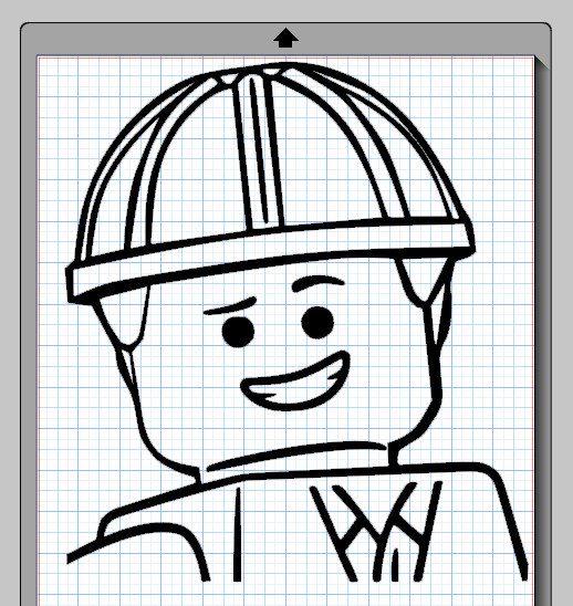 Emmet Lego Character Cameo Silhouette File by LivinOnSunnyside