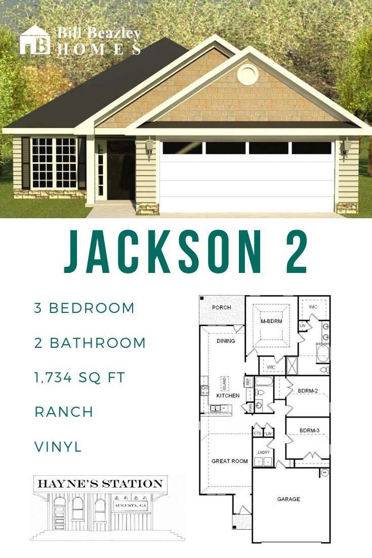 Floorplan One Story Jackson 2 Hayne S Station Neighborhood Augusta Ga Bill Beazley Homes In 2020 The Neighbourhood Resort Style Pool Station