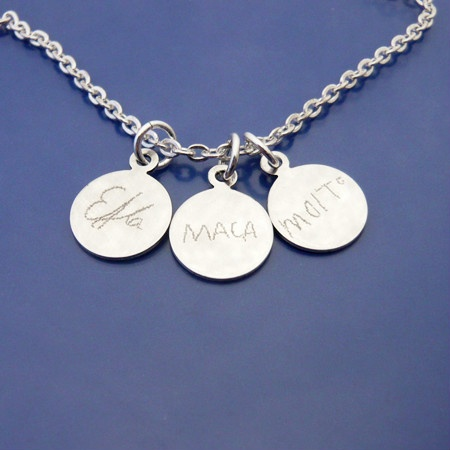Kids namesignature #engraving <3 Carry the beloved ones close to my heart!