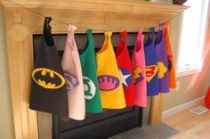 No Sew Superhero Capes would love to make these for my class