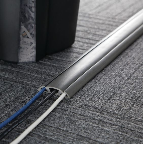 Cable Management Floor Cord Protector and Concealer