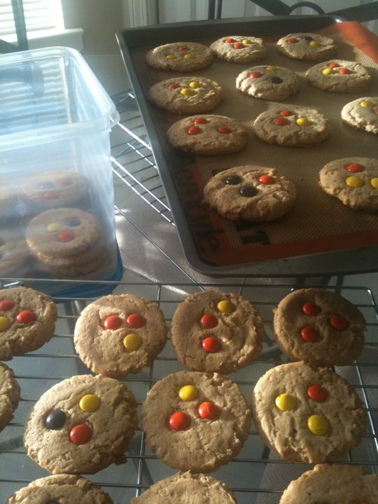Peanut butter cookies with Reese's pieces