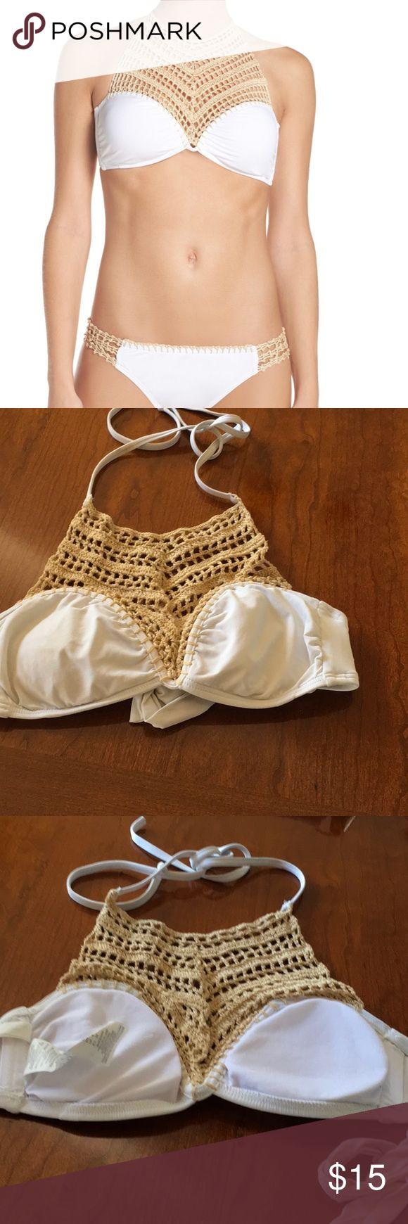 Crochet bikini top In great used condition  (#12) Nordstrom Swim Bikinis