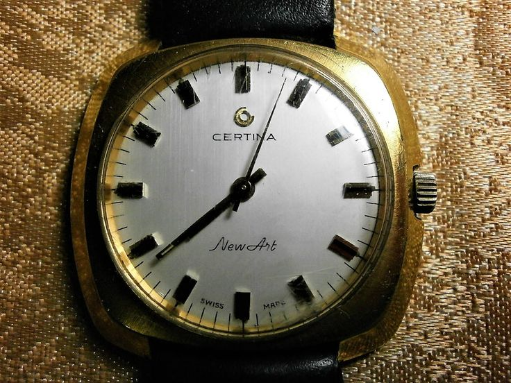 Certina New Art, Swiss made wrist watch, mechanical, 22kt gold filled, ultra vintage by AntiqueBoutiqueZ on Etsy