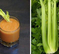 Смузи из сельдерея, моркови, яблока и банана