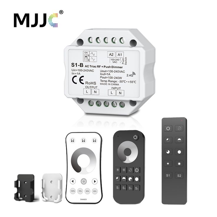 Triac Dimmer LED 220V 230V 110V AC Wireless RF Dimmable Push Switch with 2.4G Remote Dimmer 220V Controller for LED Bulbs Lamps. Yesterday's price: US $20.91 (16.97 EUR). Today's price: US $14.22 (11.61 EUR). Discount: 32%.
