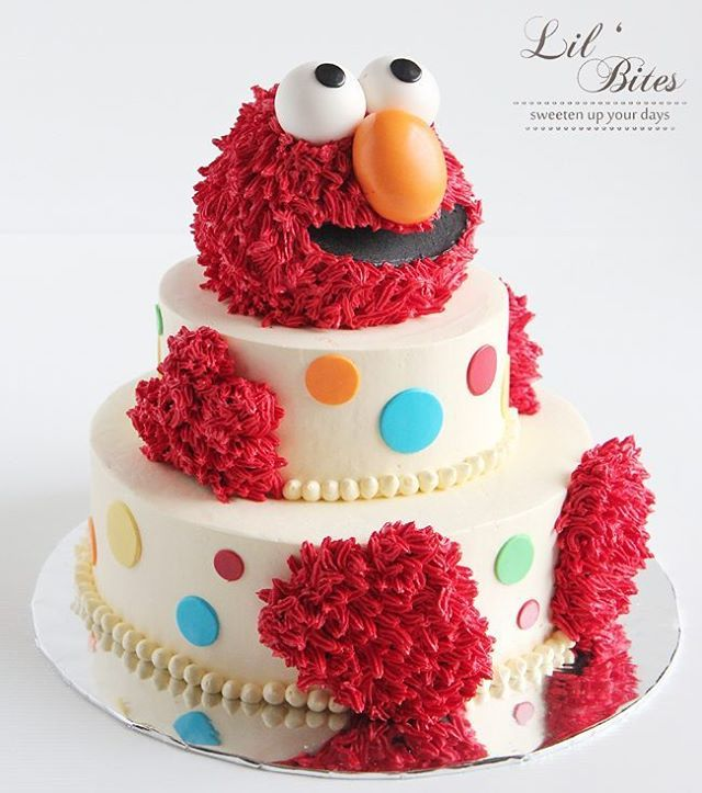 This Elmo went to a special birthday party yesterday!