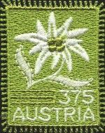 Edelweiss Embroided stamp (Austria) (2005)