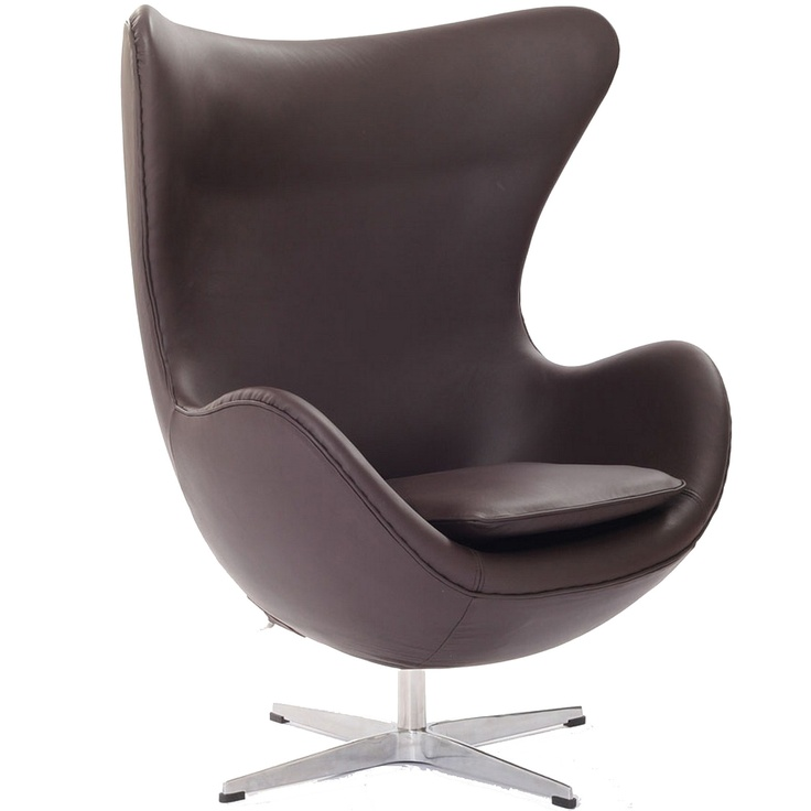 Arne Jacobson Style Egg Chair In Brown Aniline Leather Code:528 BRN Retail  Price
