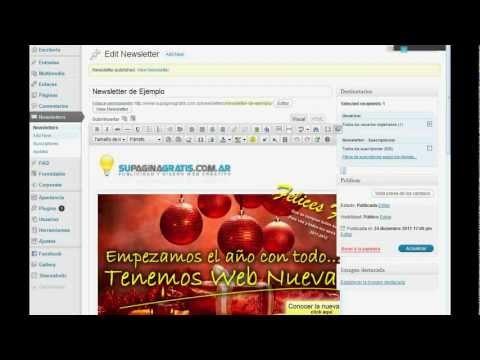 Video Ejemplo Newsletter Suscripción y Envíos