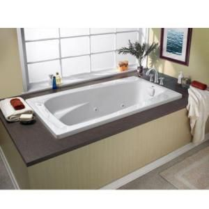 American Standard, Everclean 5 ft. x 32.75 in. x 19.75 in. Whirlpool Tub in White, 2732LC.020 at The Home Depot - Mobile