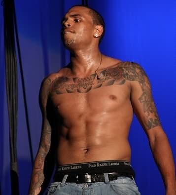 Chris Brown Chest Tattoo
