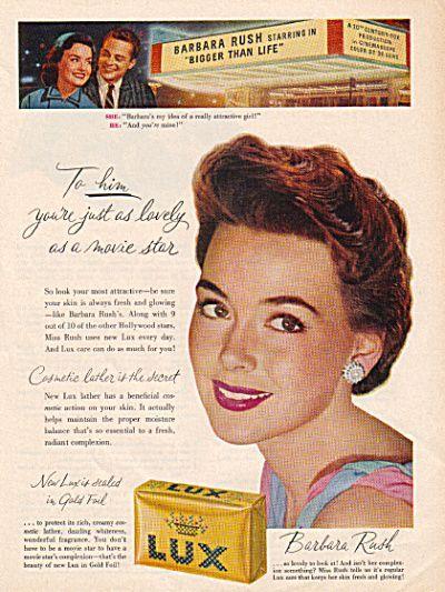 0 barbara rush lux soap 1956