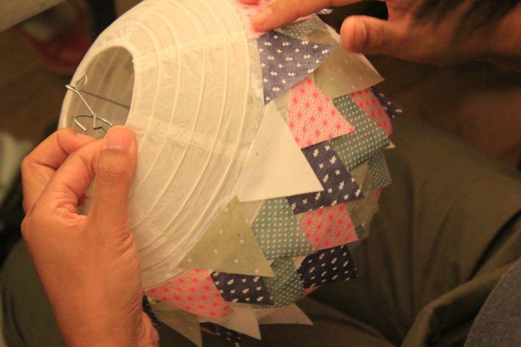 DIY Lyon Sept 2012 - Deco lampion papier 2