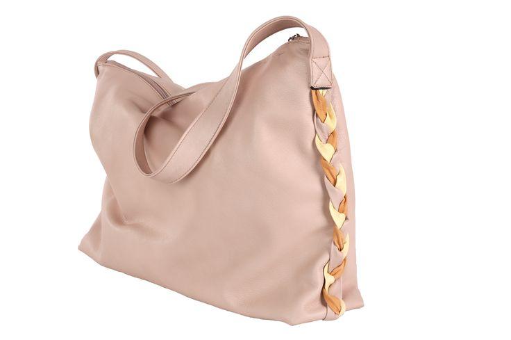 bag - handbag - pink -leather - handmade - www.awardt.be