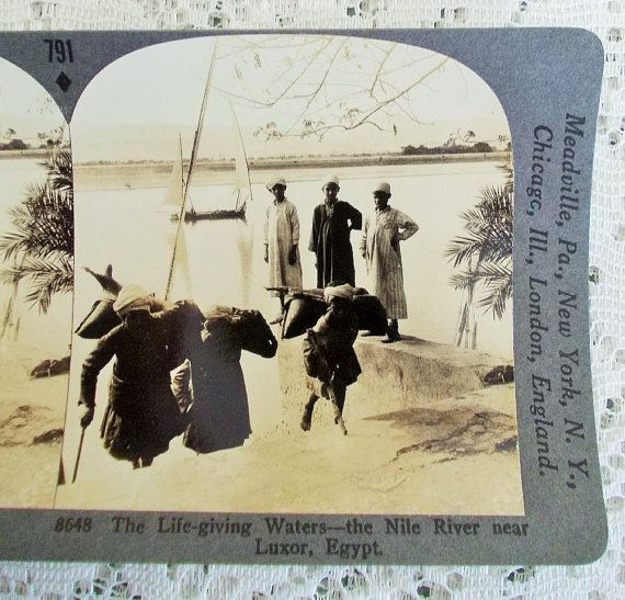 Egyptian Stereoview Card Keystone 8648 The by DaysofYoreTreasures