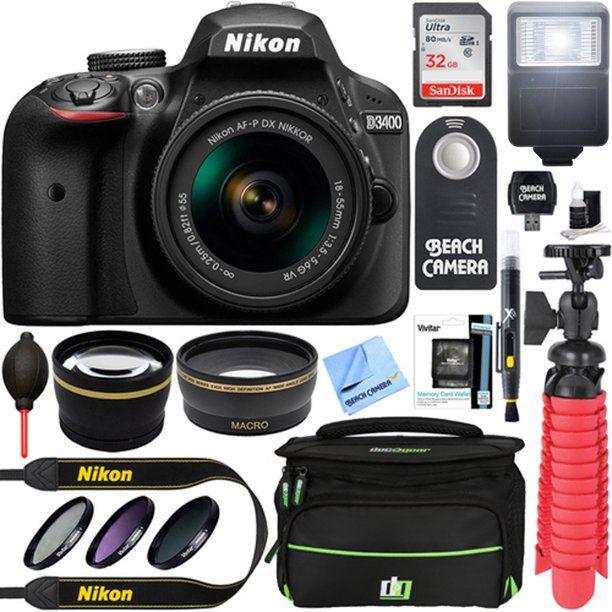 Nikon D3400 24 2 Mp Dslr Camera Af P Dx 18 55mm Vr Nikkor Lens Kit