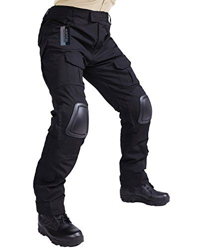 ZAPT Tactical Pants with Knee Pads Airsoft Camping Hiking Hunting BDU Ripstop Combat Pants 13 kinds Army Camo Uniform Military Trousers (Black, L36). For product info go to:  https://all4hiking.com/products/zapt-tactical-pants-with-knee-pads-airsoft-camping-hiking-hunting-bdu-ripstop-combat-pants-13-kinds-army-camo-uniform-military-trousers-black-l36/