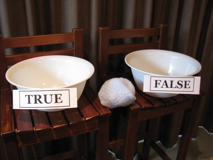 True or False Toss - Great idea for review game.  Also for NT or OT sort.