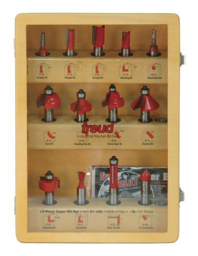 Freud 91-100 13-Piece Super Router Bit Set with 1/2-Inch Shank and Freud's TiCo Hi-Density Carbide  http://www.handtoolskit.com/freud-91-100-13-piece-super-router-bit-set-with-12-inch-shank-and-freuds-tico-hi-density-carbide/